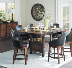 Bayshore Counter Height Table w/ Storage Base by Homelegance