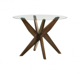 Massey Round Glass Dining Table by Homelegance