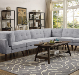 Churchill Button Tufted Sectional by Coaster