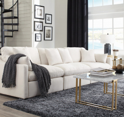 Hobson Off White Sectional by Coaster