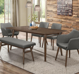 Stratus 56″ Dining Table w/ 16″ Leaf by Homelegance