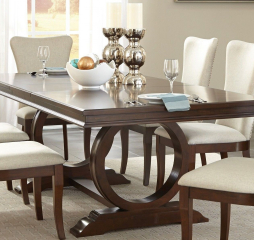 Oratorio Pedestal Dining Table w/ 20″ Leaf by Homelegance