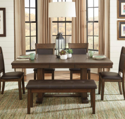 Wieland 54″ Dining Table w/ 18″ Leaf by Homelegance