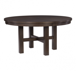 Josie Round Dining Table w/ Lazy Susan by Homelegance