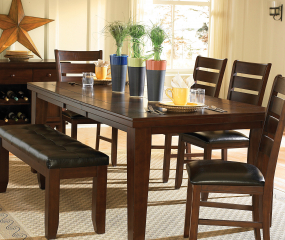 Ameillia 42″ Dining Table w/ 18″ Leaf by Homelegance