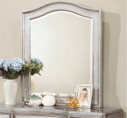 Bling Game Metallic Platinum Vanity Mirror w/ Arched Top by Coaster