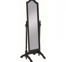 Black Transitional Rectangular Cheval Mirror w/ Arched Top by Coaster
