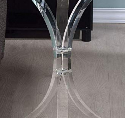 Contemporary Clear Round Accent Table by Coaster