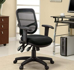 Transitional Mesh Back Black Office Chair by Coaster