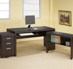 Skylar Computer Desk w/ Keyboard Tray by Coaster