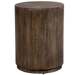 Round Drum End Table by Porter