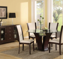 Daisy Round Dining Table w/ Glass Top by Homelegance