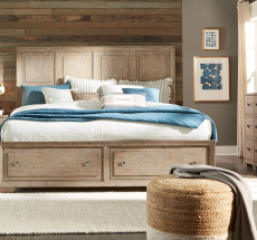 Bridgewater Panel Bed w/ Storage Footboard by Legacy Classic