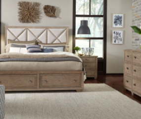 Bridgewater Upholstered Bed w/ Storage Footboard by Legacy Classic