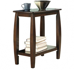 Cappuccino One Shelf Chairside Table by Coaster