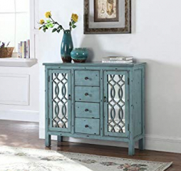 Antique Blue 4 Drawer Accent Cabinet by Coaster