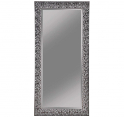 Transitional Black Mosaic Rectangular Floor Mirror by Coaster