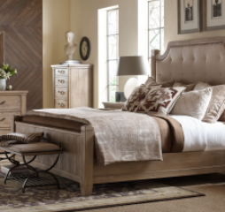Monteverdi Upholstered Low Post Bed by Legacy Classic