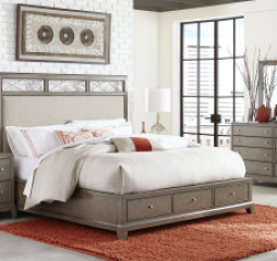 Apex Upholstered Platform Bed w/ Storage by Legacy Classic