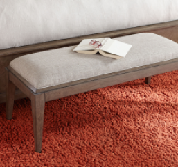 Apex Upholstered Bench by Legacy Classic