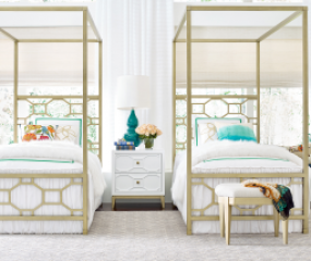 Chelsea Metal Canopy Bed by Legacy Classic