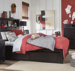 Crossroads Upholstered Bookcase Bed by Legacy Classic