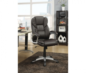 Casual Transitional Faux Leather Office Chair by Coaster