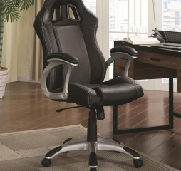 Contemporary Black and Gray Office Chair by Coaster