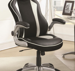 Contemporary Black and White Office Chair by Coaster