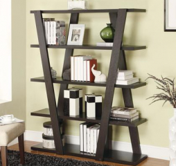 Bold Contemporary Cappuccino Bookcase by Coaster