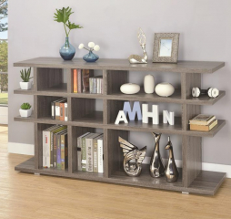 Contemporary Weathered Gray Bookcase by Coaster