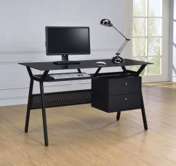 Weaving 2-Drawer Computer Desk by Coaster