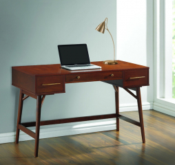 Transitional Walnut Writing Desk by Coaster