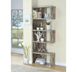 Contemporary Rustic Bookcase by Coaster