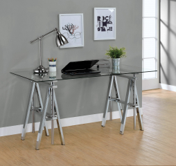 Statham Glass Top Adjustable Writing Desk by Coaster