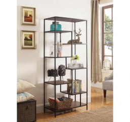Murphy Industrial Walnut and Black Bookcase by Coaster