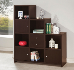 Contemporary Cappuccino Bookcase by Coaster