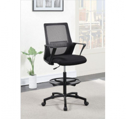 Contemporary Black Tall Upholstered Office Chair by Coaster