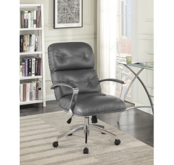 Gray and Aluminum Upholstered Office Chair by Coaster