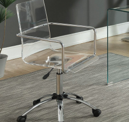 Amaturo Contemporary Clear Acrylic Office Chair by Coaster