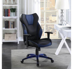 Contemporary Faux Leather High Back Office Chair by Coaster