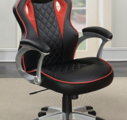 Contemporary Black and Red High Back Office Chair by Coaster
