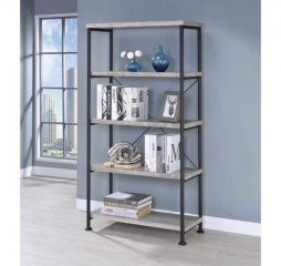 Guthrie Industrial Gray Driftwood Bookcase by Coaster