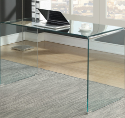 Highsmith Glass Writing Desk by Coaster