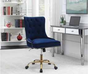 Modern Velvet Office Chair by Coaster