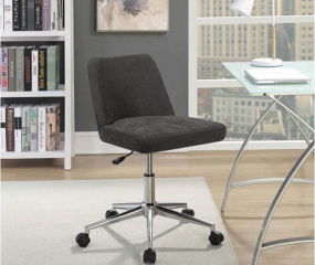 Elegant Upholstered Swivel Office Chair by Coaster