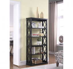 Trellis Pattern Side Panel Bookcase by Coaster