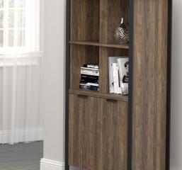 Pattinson 2-Door Rectangular Bookcase by Coaster