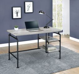 Delray 2-Tier Open Shelving Writing Desk by Coaster