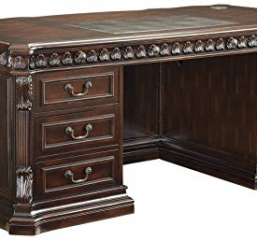 Tucker Traditional Rich Brown Executive Desk by Coaster